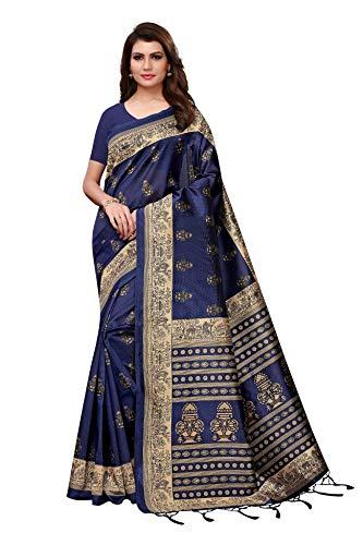 CRAFTSTRIBE Vestido De Novia Indio Vestido Tradicional Bollywood Fiesta Impresa Desgaste Arte Sari De Seda para Las Mujeres