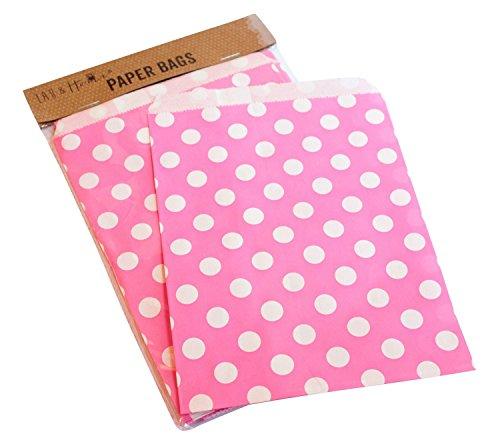 Confezione da 25 punti party sacchetto di carta / caramelle dolci regalo, 13x18cm - Rosa