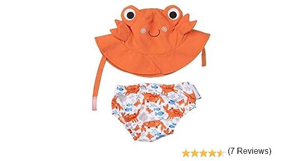 Zoocchini Maillot//Chapeau Motif Crabe 12-24 Mois