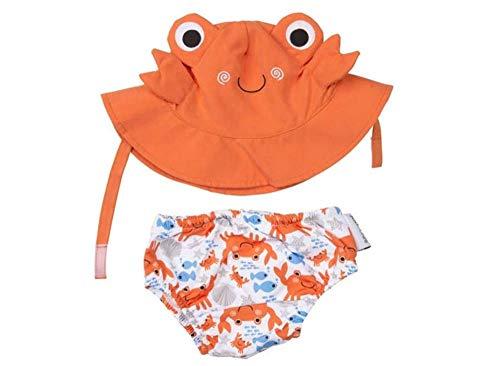 Zoocchini maillot/sombrero, diseño de cangrejo, M 6-12meses