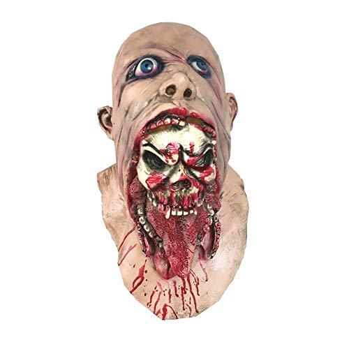 Y-RD Neuheit Angst Maske, Walking Dead Full Head Maske, Resident Evil Monster Maske, Zombie Kostüm Party Gummi Latex Maske for - Dead Disco Kostüm