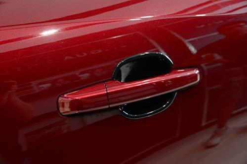 Accessoires de Garniture de Bol de Porte extérieure de Voiture en Plastique chromé ABS Noir pour Jaguar F-Pace E-Pace X761
