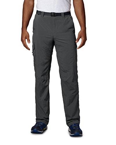 Columbia Cargo Wanderhose für Herren, Silver Ridge Cargo Pant, Nylon, grau (Grill), Größe: 34, AM8007