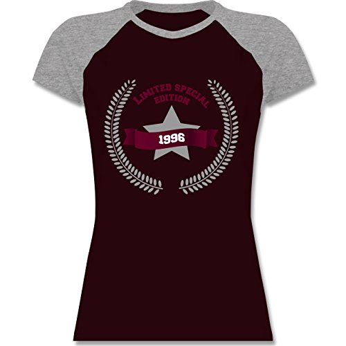 Geburtstag - 1996 Limited Special Edition - zweifarbiges Baseballshirt /  Raglan T-Shirt für Damen