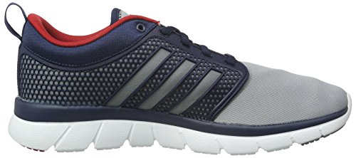 adidas NEO Herren Cloudfoam Groove Low-Top Grau (Collegiate Navy/Grey/Ftwr White)