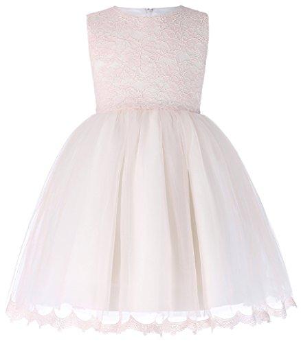 Abend Kleid Party Kleid (GRACE KARIN Leicht Rosa Blumenmaedchen Kleid Prinzessin Party Abend Kleid 3 Jahre)