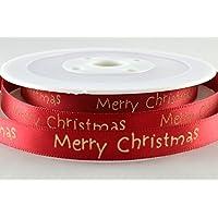 Rosso di Raso con auguri di Natale 10mm x