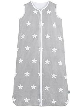Jollein 049–529–64966–Sacco a pelo Baby (grigio, bianco, modello, jersey, estate, con cerniera, lavaggio...