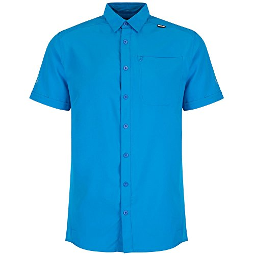 Regatta Mens Kioga Short Sleeve Technical Button Shirt Hydro Blue