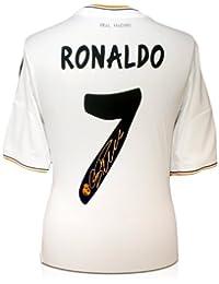 exclusivememorabilia.com Camiseta de fútbol del Real Madrid firmada por Cristiano Ronaldo