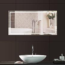 anten mural miroir avec lumires eclairage 23w led lampe miroir de salle de bain 6000k - Miroir Salle De Bain Antibuee Radio