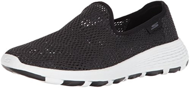 b74ee153391407 Skechers Women s Go Walk Cool Black White Slip-On Shoe Shoe Shoe 7.5 Women  US Parent B073GDG1Z1 020ede