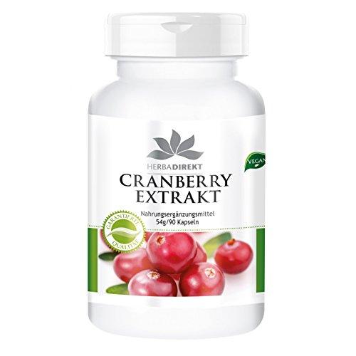 Herbadirekt - Cranberry Extrakt - 25-fach konzentriert - 90 Kapseln