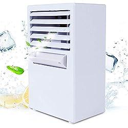 Mini Climatiseur Portable,Ventilateur de Brouillard Avec 3 Vitesse,Refroidisseur d'Air, Humidificateur et Purificateur d'Air Silencieux,3 en 1 Fonction de Protection Multifonctionnel