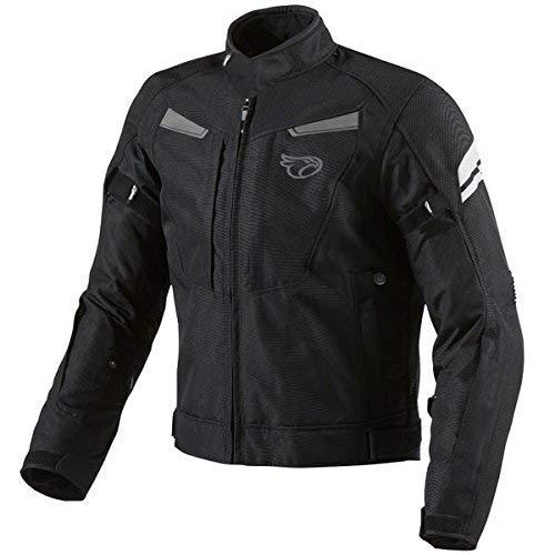 Jet Motorcycle Wear JET Giacca moto impermiabile con l'armatura multi funzionale nero