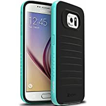 Samsung Galaxy S6 Funda - Vena [vFrame] Marco de aluminio ultra delgado de híbrida caso para Samsung Galaxy S6 (Verde Azulado)