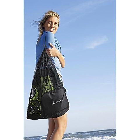 Borse WODISON oversize con coulisse Mesh Attrezzature borsa per Spiaggia Immersioni subacquee Snorkeling Nautica (Nero) - Oversize Gear Bag