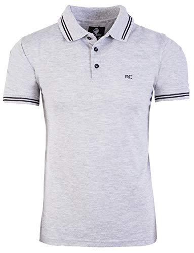 Rock Creek Herren Polo T-Shirts Basic Shirt Kurzarm Poloshirt Polohemd Slim Fit Sommer Shirts Männer T Shirt Top Polokragen H-177 Grau M