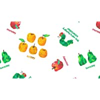 VERY HUNGRY CATERPILLAR FRUIT & DAYS OF WEEK Fabric by Makower - 0.5 Metres - 100% Cotton
