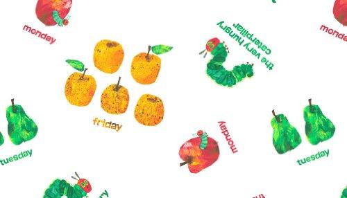 Raupe Nimmersatt Fruit & Tagen der Woche Stoff von Makower-0,5Meter-100% Baumwolle (Raupe Der Stoff Nimmersatt)