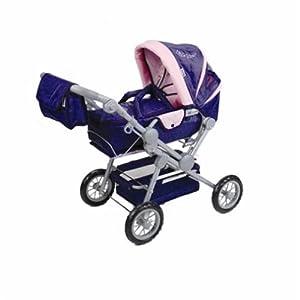 Knorr 10400 Twingo - Cochecito de bebé de Juguete, Color Morado y Rosa
