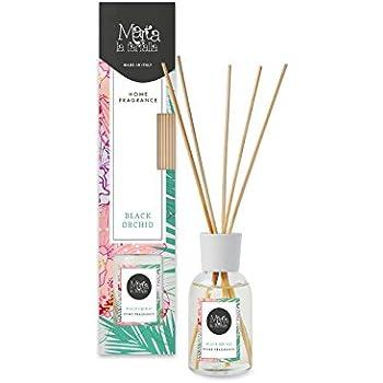 profumatore deodorante per ambienti e armadi con diffusore a bastoncini profumazione orchidea 100ml 1pz
