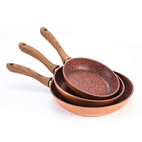 Mediashopping Set padelle Copper Stone 20/24/28 cm, Adatte ad ogni tipo di fornello: Induzione, Gas, Elettrici, in Ceramica, anche in Forno a 150 °C.