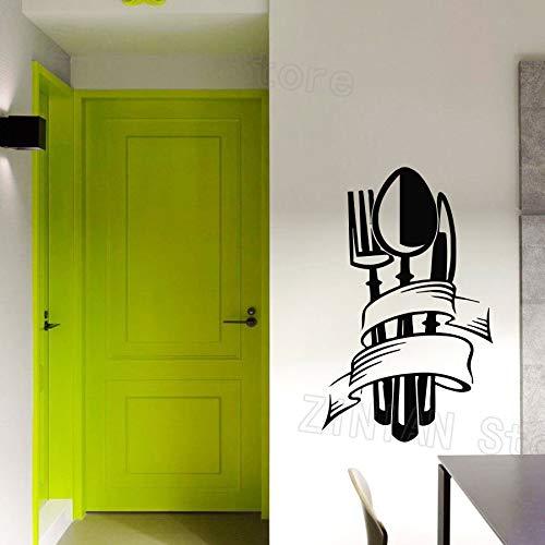 yaonuli Küche wandaufkleber Messer löffel Applique Gabel Vinyl Aufkleber wohnkultur Wohnzimmer esszimmer dekorative Kunst mural86x54cm