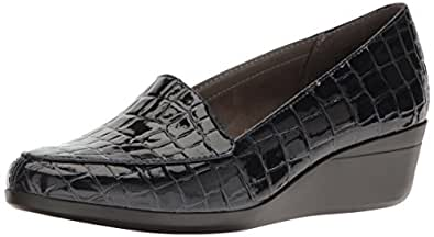 Aerosoles Women's True Match Slip-on Loafer, Blue Crocodile, 5 M US