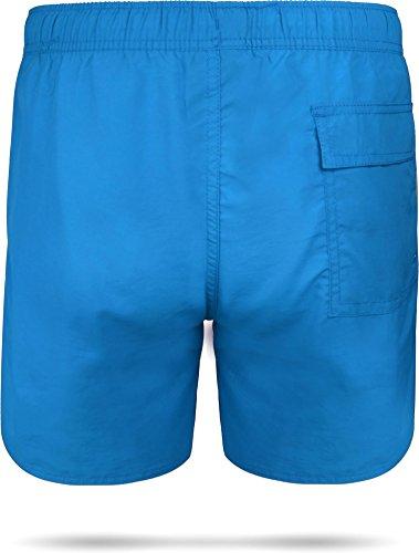 Badeshort Coastline Bermudashorts Badeshorts - schnelltrocknende Schwimmhose für Herren Männer Blau