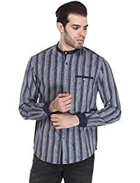 Reevolution Men's Cotton Ikat Shirt (MCSS310299)