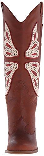 Jessica Simpson Caralee Damen Cowboy Western Boots Leder Cowgirl UK Größen New Luggage