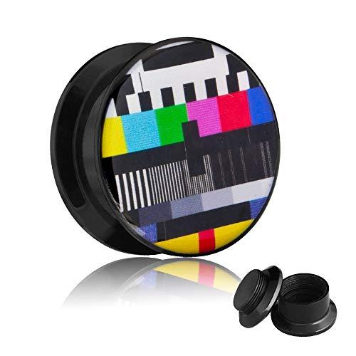 Picture Plug - Gewinde - TV Testbild 32 mm
