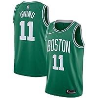 Lalagofe Kyrie Irving, Boston Celtics #11, Basket Jersey Maglia Canotta, Verde, Maglia Swingman Ricamata, Stile di Abbigliamento Sportivo (S)