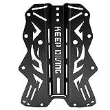 Zouminy Harness Backplate für das Tauchen unter Wasser(Schwarz)