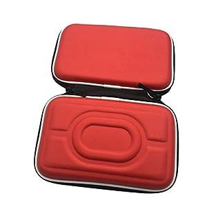 Meijunter Hart EVA Tragetasche Schutzhülle Tasche Hülle Etui für Nintendo Gameboy Advance GBA Gameboy Color GBC Konsole (Rot)
