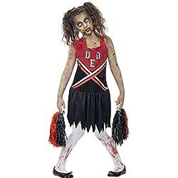 Zombie Cheerleader - Halloweens - Niños Disfraz - Medium - 143cm - Edad -7-9
