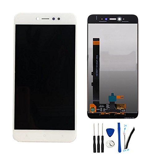 SOMEFUN Completa Pantalla Táctil LCD de Digitalización Asamblea Pantalla de Recambio para Xiaomi Redmi Note 5A Pro/Prime Global Version/Redmi Y1 (3GB RAM/4GB RAM) Blanco