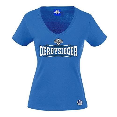Volkspark Hamburg Frauenshirt Derby Sieger 2 Blau S