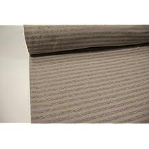 Plástico/100cmx140cm/Niños/mejor Forro Polar de sudadera de calidad/alpenfleece (Sudadera/forro polar) rayas gris–Beige