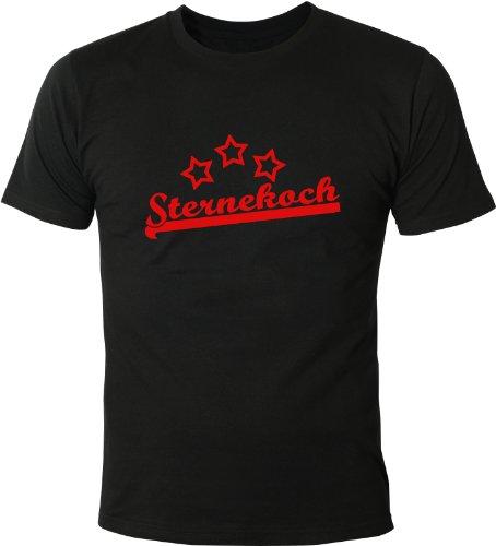 Mister Merchandise Cooles Fun T-Shirt Sternekoch Schwarz