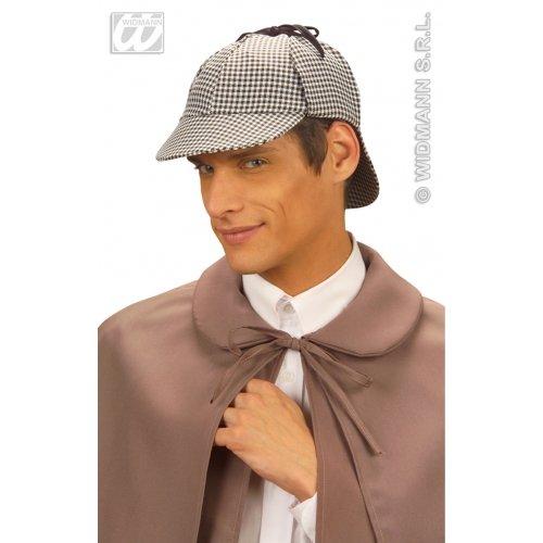 Widmann wdm3323h-Kostüm für Erwachsene Mütze Detective, Mehrfarbig, - Sherlock Holmes Kostüm