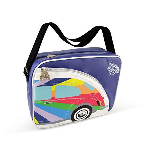 BRISA VW Collection Schultertasche Umhängetasche mit VW Käfer Motiv, Lila