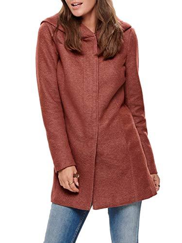 ONLY NOS Damen Onlsedona Light Coat OTW Noos Mantel, Mehrfarbig (Picante Detail: Melange), X-Small (Herstellergröße: XS)