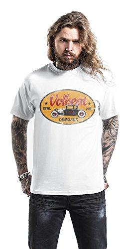 Volbeat Oval Car T-Shirt weiß Weiß