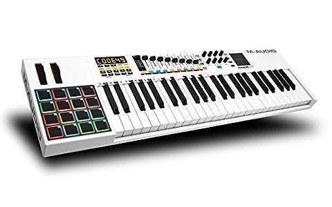 M-Audio Code 49 USB MIDI Keyboard Controller mit Anschlagdynamische Tasten, Pads (X/Y Touchpad)