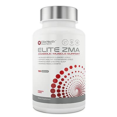 ELITE ZMA #1 Rated ZMA Supplement - 2 to 3 Month Supply - Used by Bodybuilders to Increase Muscle Strength, Size & Recovery - ZMA Testosterone Booster - Satisfaction Or Your Money Back Guaranteed from Elite Health Nutrition Ltd