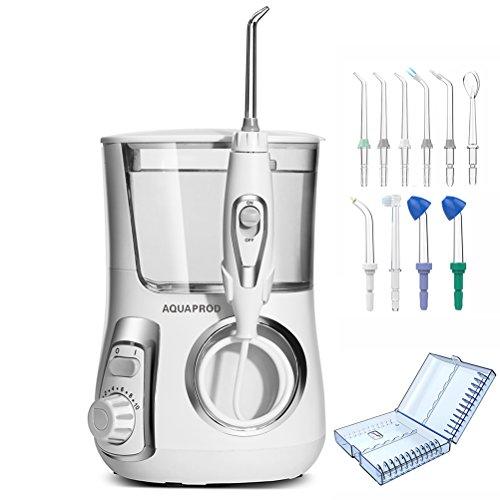 Dentale Wasser Flosser für Zähne,Zahnspange und Brücken,800ml Munddusche mit 10 Ersatz Tipps (Einschließlich 2 nasal waschen Tipps) &Tipps Aufbewahrungskiste