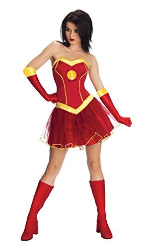 Rubie 's Offizielles Damen Marvel Miss Iron Man Resue, Erwachsene Kostüm–Kleine 8-10