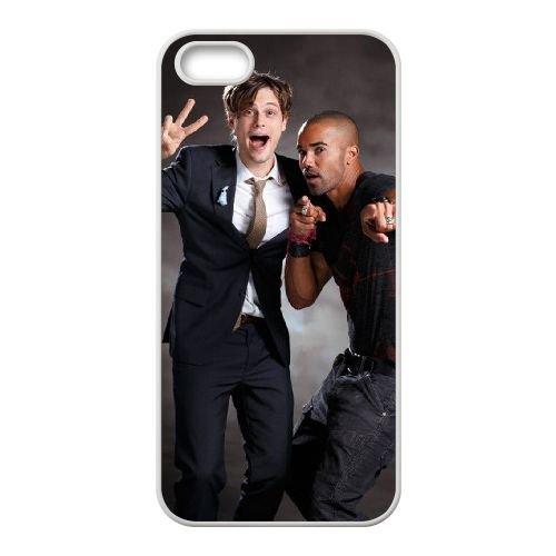 Criminal Minds coque iPhone 4 4S Housse Blanc téléphone portable couverture de cas coque EBDXJKNBO16554